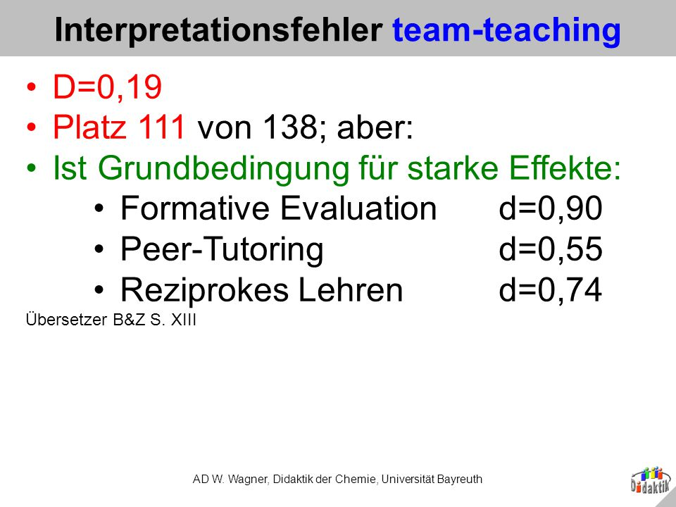 Interpretationsfehler team-teaching