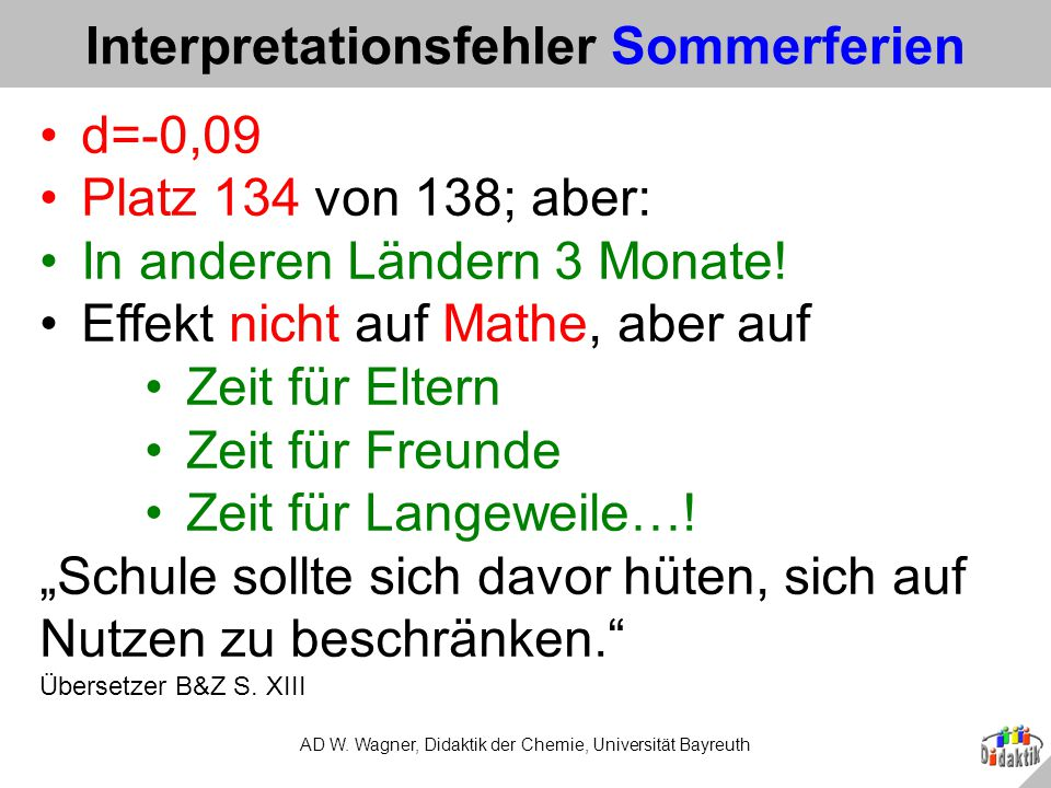 Interpretationsfehler Sommerferien
