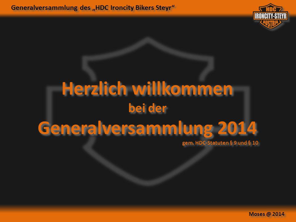 Herzlich willkommen Generalversammlung 2014