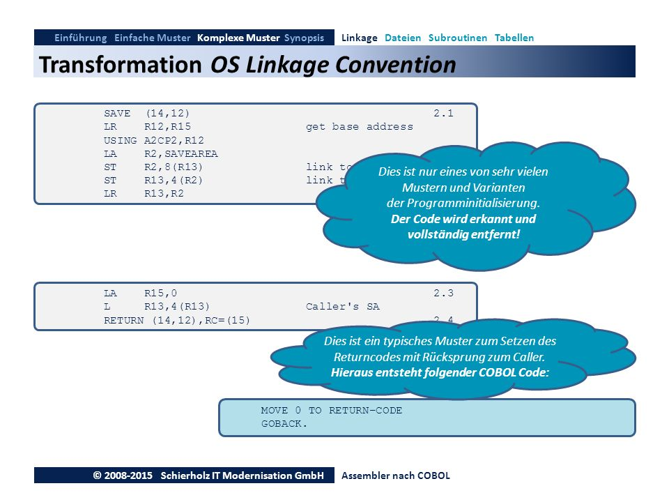 Transformation OS Linkage Convention