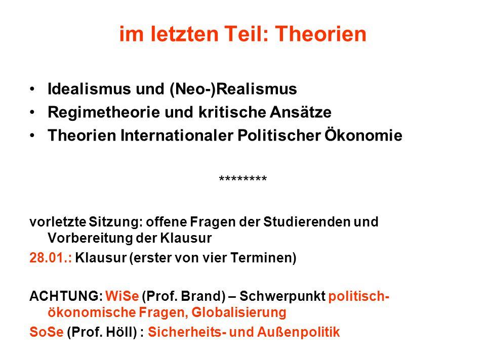 im letzten Teil: Theorien
