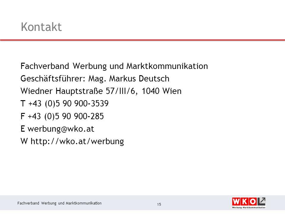 Kontakt Fachverband Werbung und Marktkommunikation