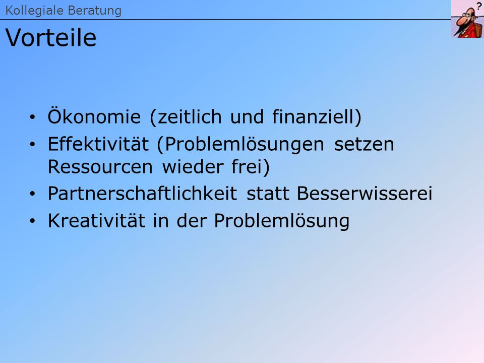 Vorteile Ökonomie (zeitlich und finanziell)