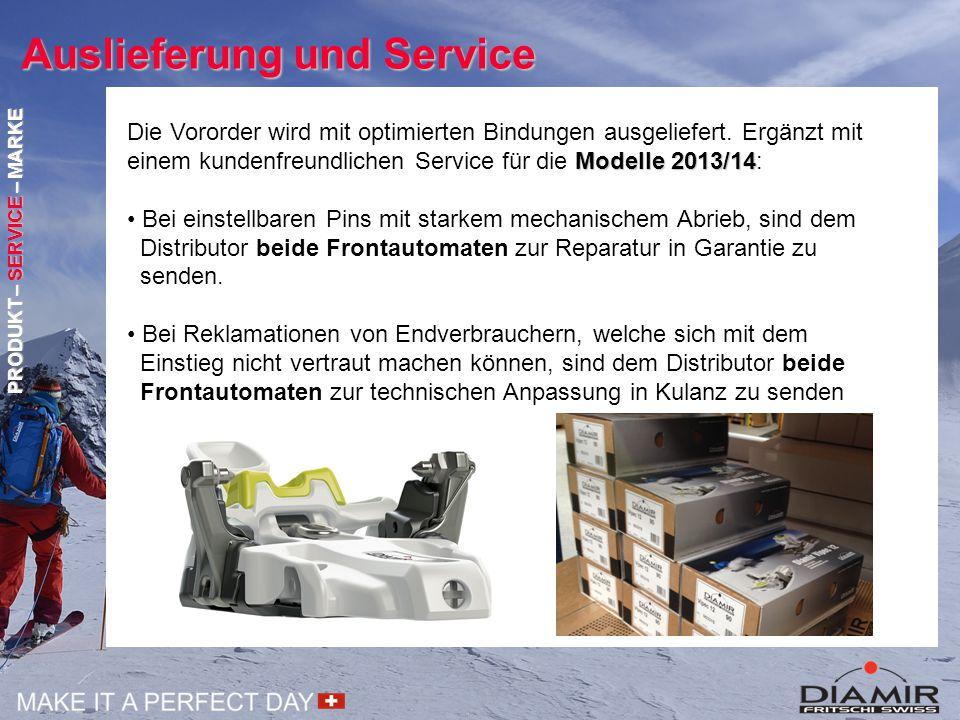 Auslieferung und Service