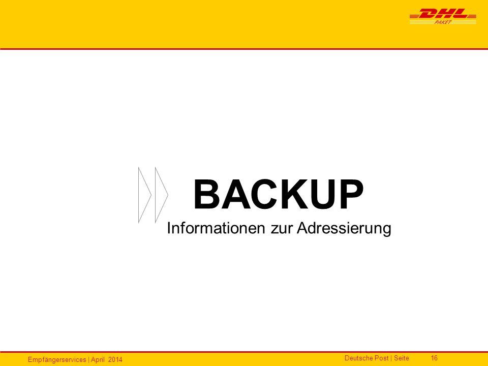 Informationen zur Adressierung