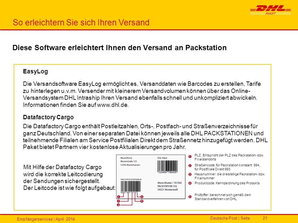 Diese Software erleichtert Ihnen den Versand an Packstation
