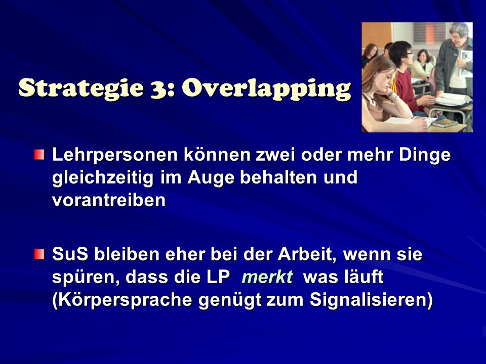 Strategie 3: Overlapping
