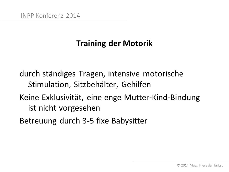 Training der Motorik
