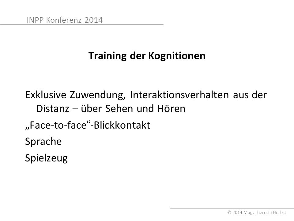 Training der Kognitionen