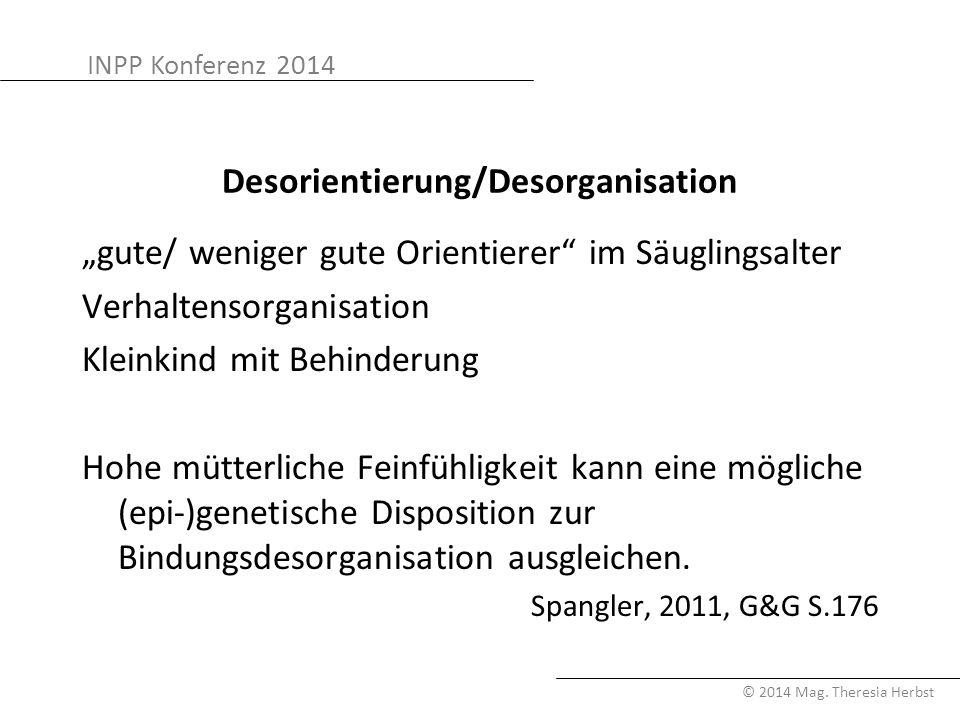Desorientierung/Desorganisation