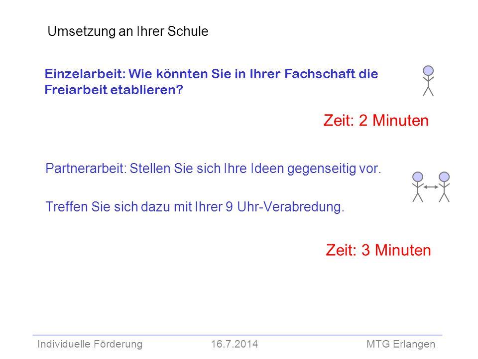 Zeit: 2 Minuten Zeit: 3 Minuten Umsetzung an Ihrer Schule