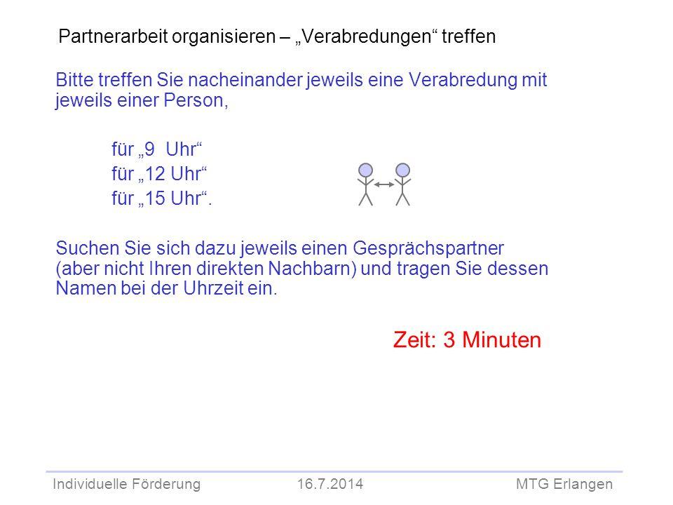 """Partnerarbeit organisieren – """"Verabredungen treffen"""