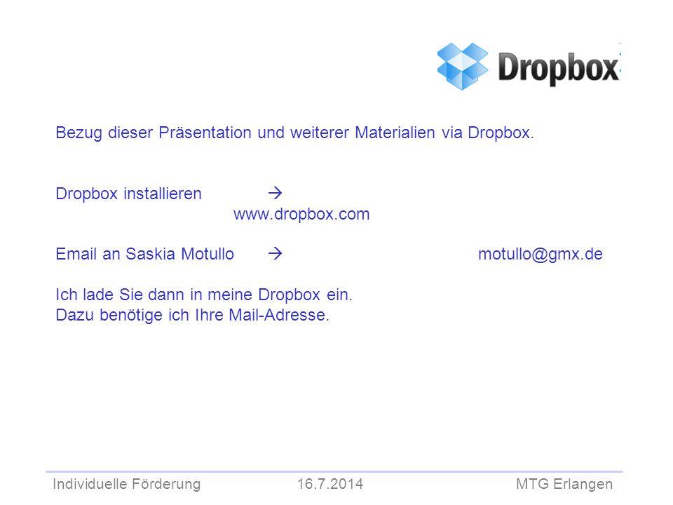 Bezug dieser Präsentation und weiterer Materialien via Dropbox