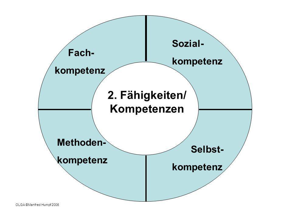 2. Fähigkeiten/ Kompetenzen