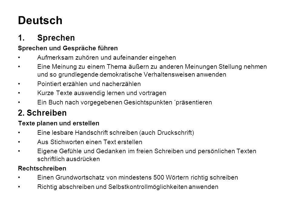 Deutsch Sprechen 2. Schreiben Sprechen und Gespräche führen