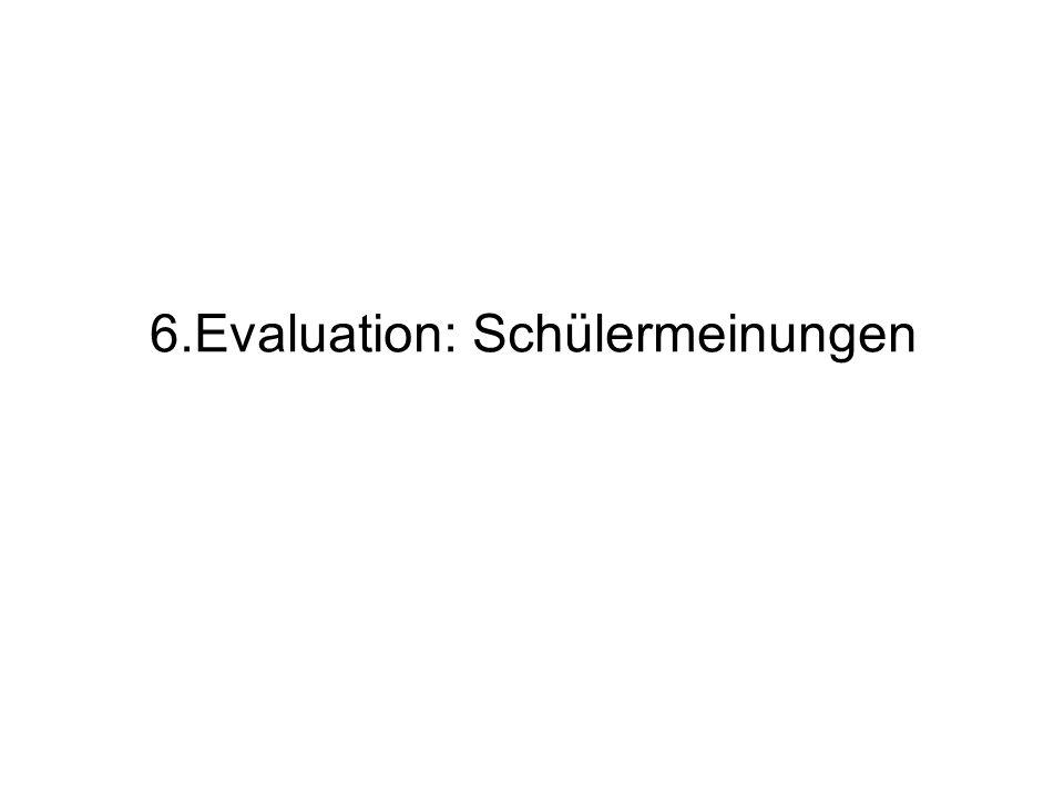 6.Evaluation: Schülermeinungen