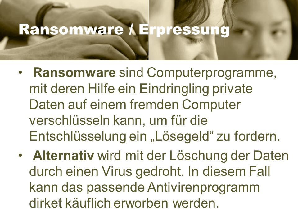 Ransomware / Erpressung