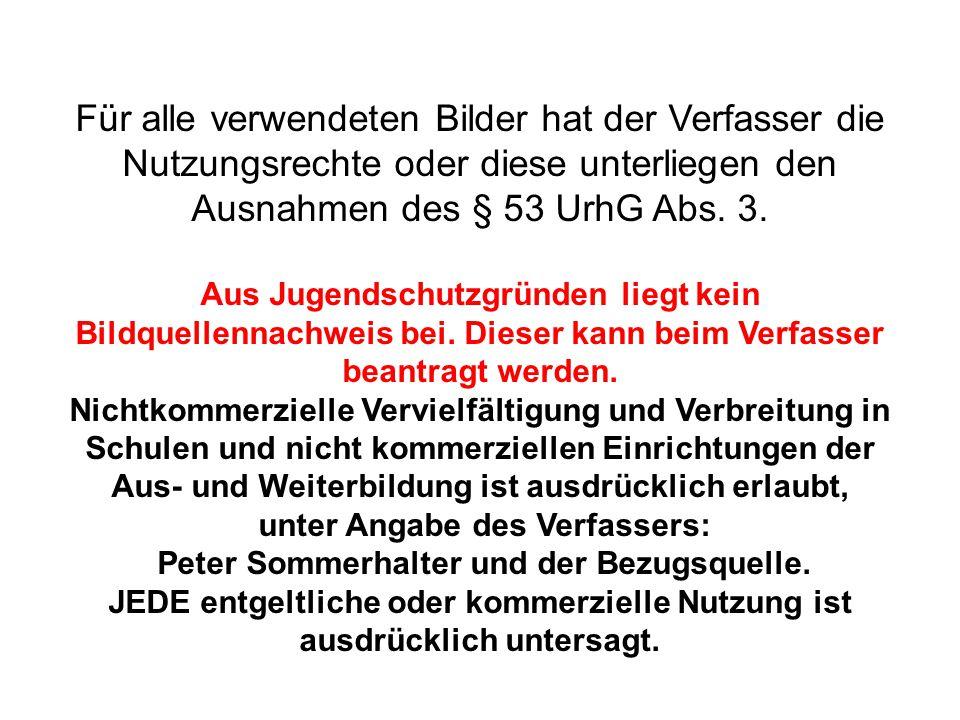 unter Angabe des Verfassers: Peter Sommerhalter und der Bezugsquelle.