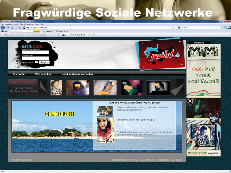 Fragwürdige Soziale Netzwerke