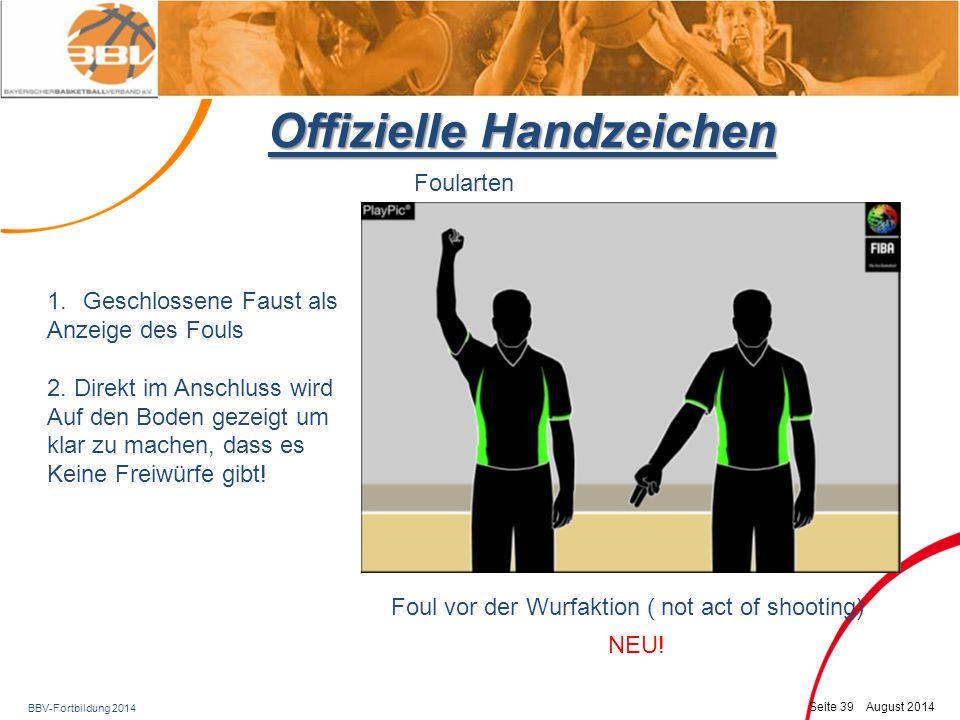 Offizielle Handzeichen