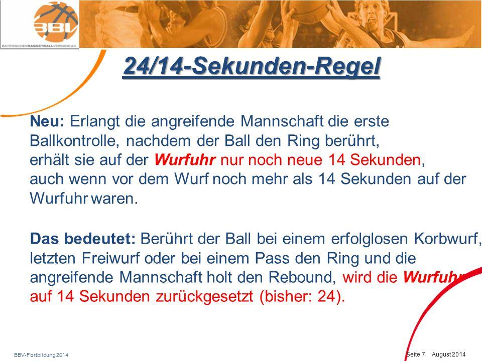 24/14-Sekunden-Regel Neu: Erlangt die angreifende Mannschaft die erste