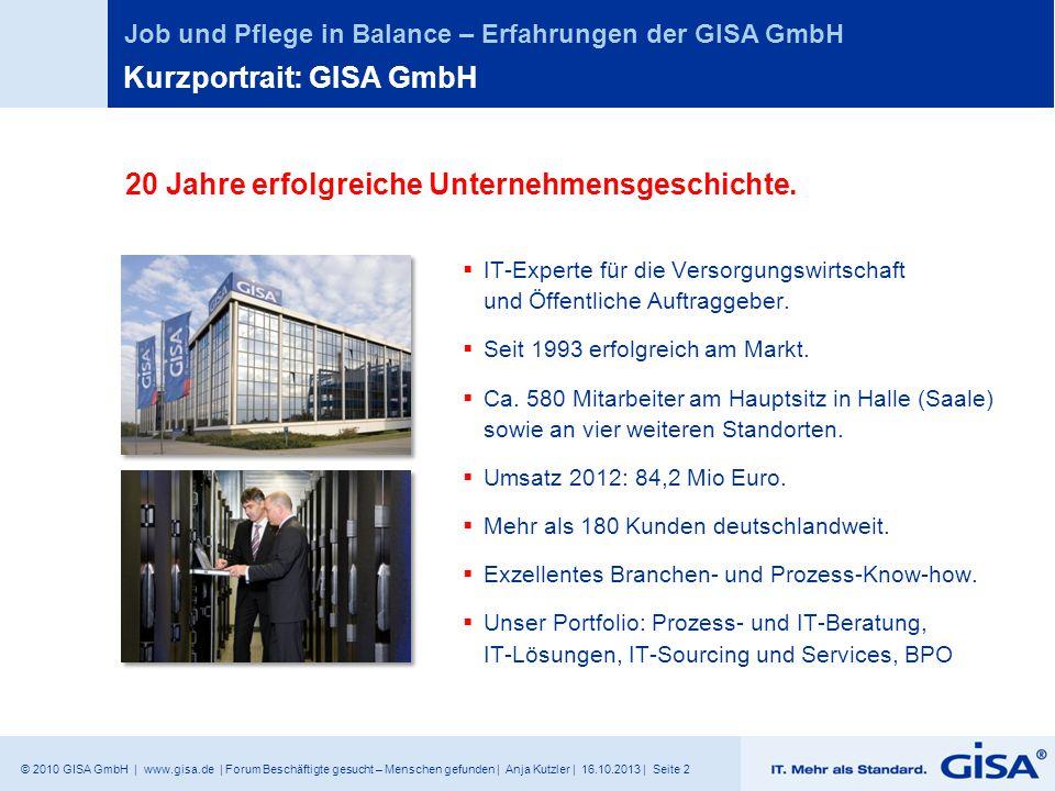 Kurzportrait: GISA GmbH