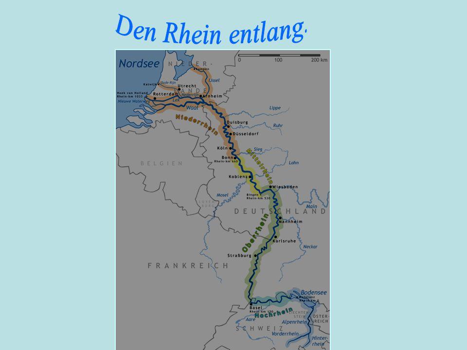 Den Rhein entlang.