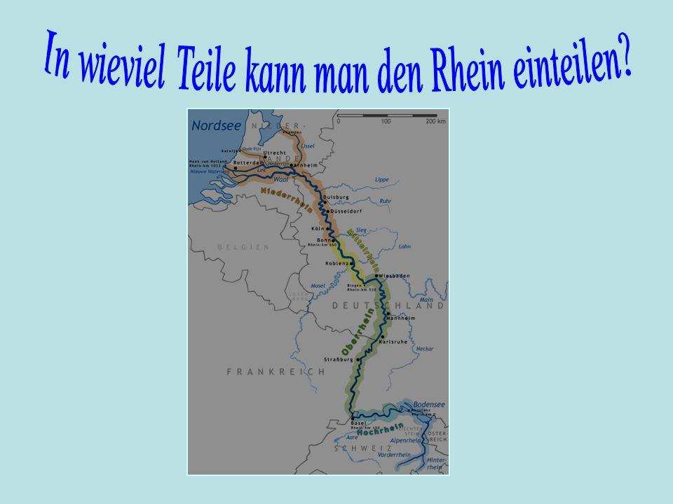 In wieviel Teile kann man den Rhein einteilen