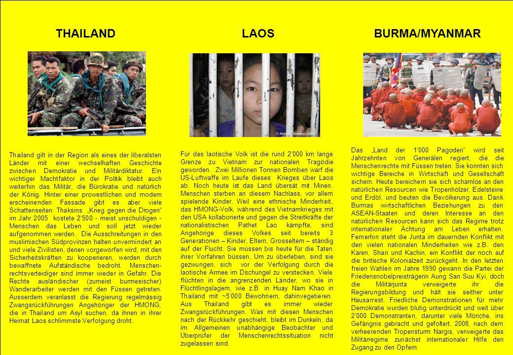 THAILAND LAOS BURMA/MYANMAR