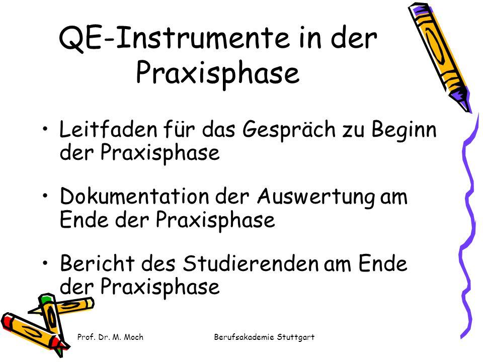 QE-Instrumente in der Praxisphase