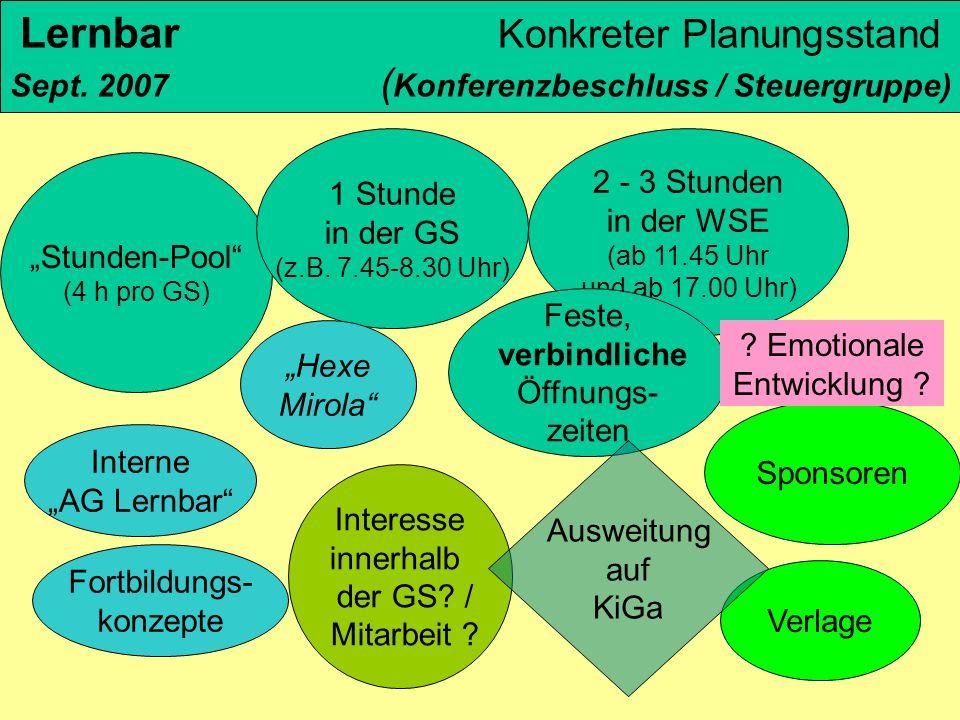 Lernbar Konkreter Planungsstand