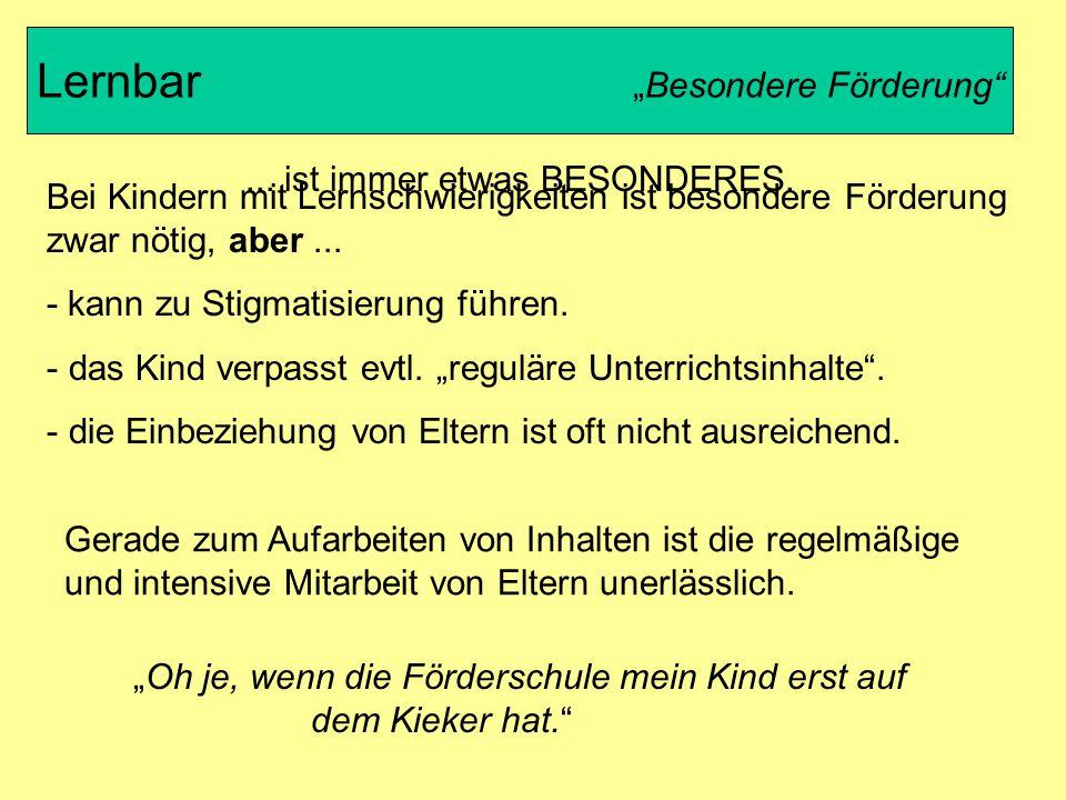 """Lernbar """"Besondere Förderung"""