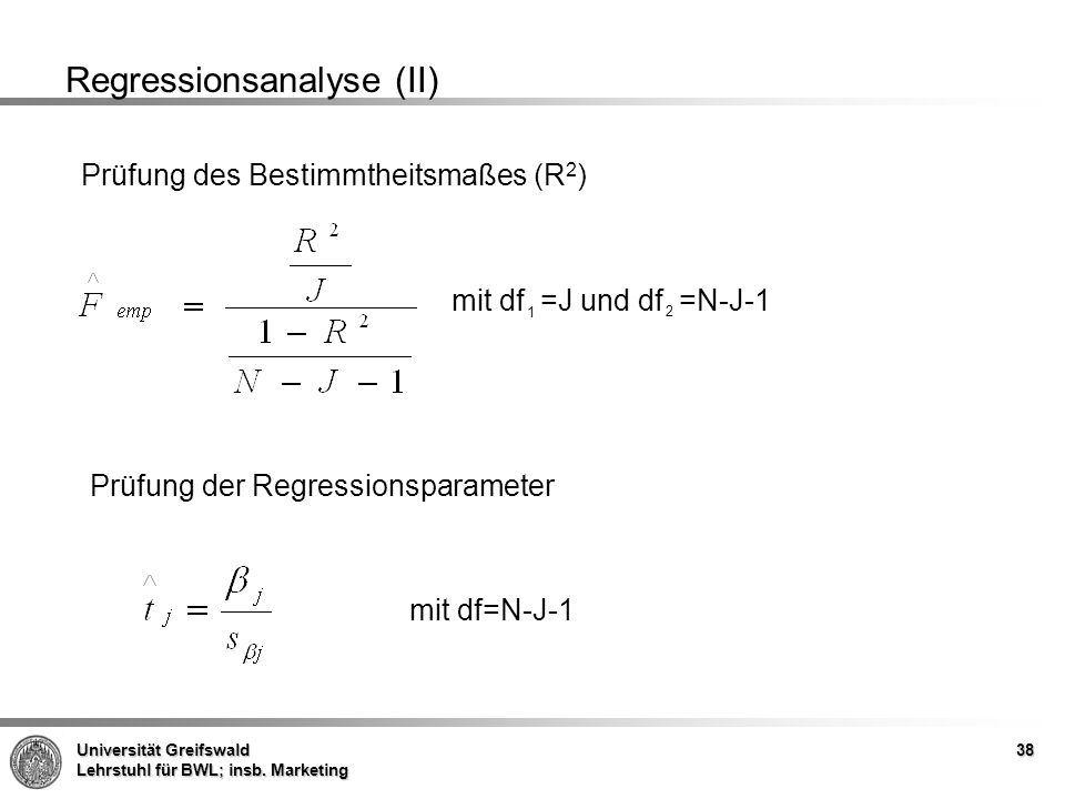 Regressionsanalyse (II)