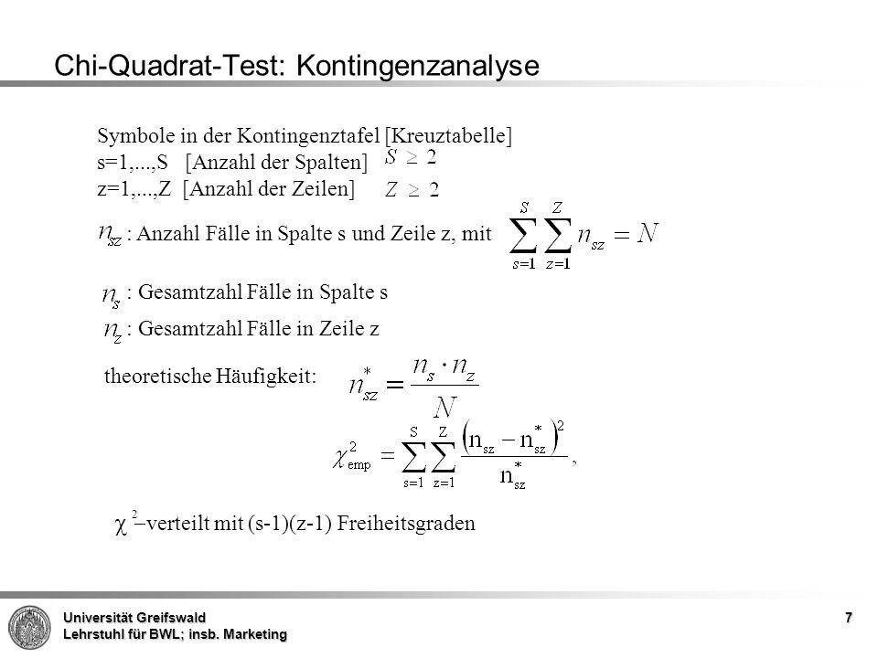 Chi-Quadrat-Test: Kontingenzanalyse