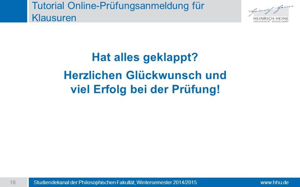 Tutorial Online-Prüfungsanmeldung für Klausuren