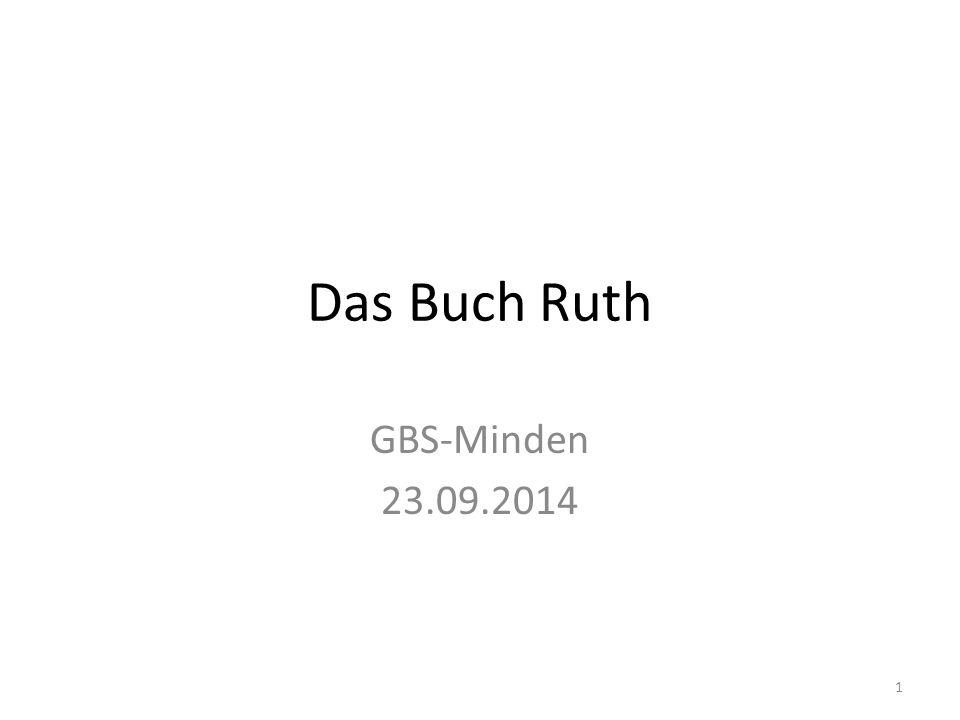 Das Buch Ruth GBS-Minden 23.09.2014
