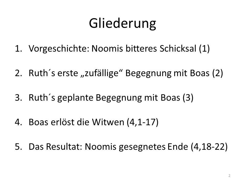 Gliederung Vorgeschichte: Noomis bitteres Schicksal (1)