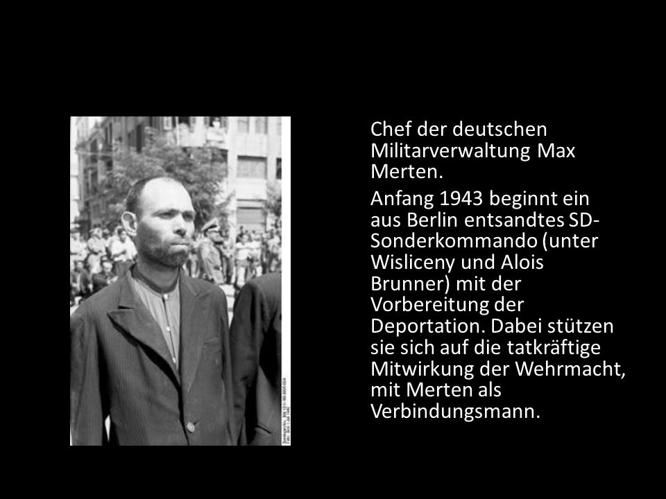Chef der deutschen Militarverwaltung Max Merten