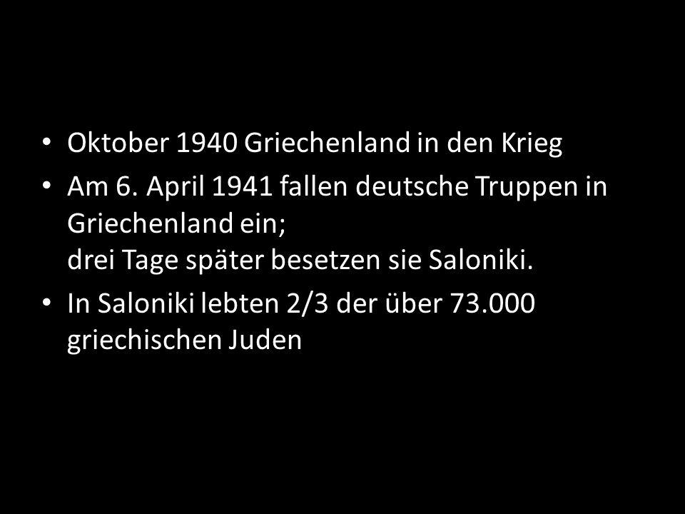 Oktober 1940 Griechenland in den Krieg