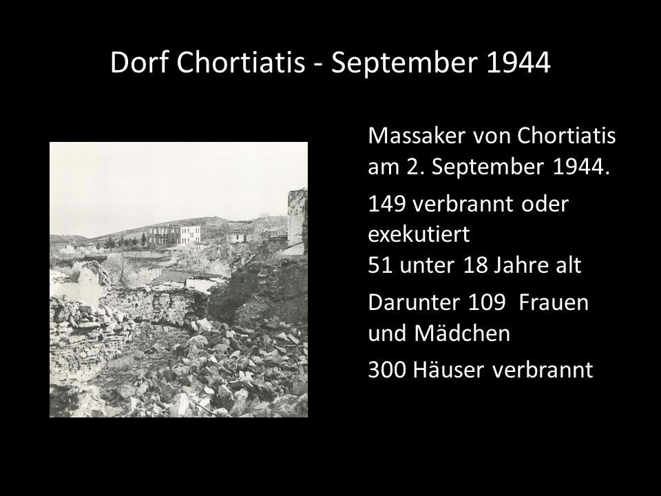 Dorf Chortiatis - September 1944