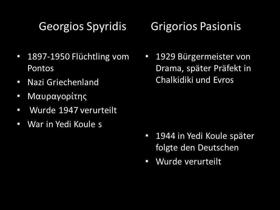 Georgios Spyridis Grigorios Pasionis