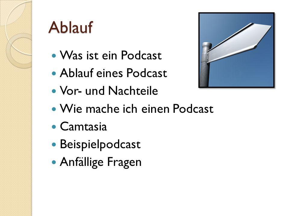 Ablauf Was ist ein Podcast Ablauf eines Podcast Vor- und Nachteile