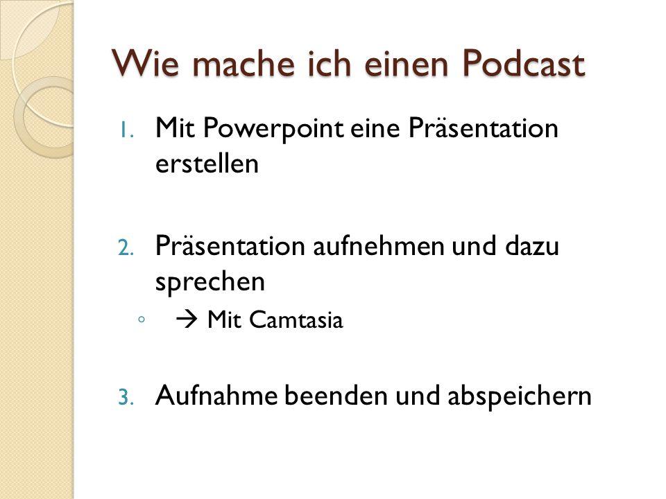 Wie mache ich einen Podcast