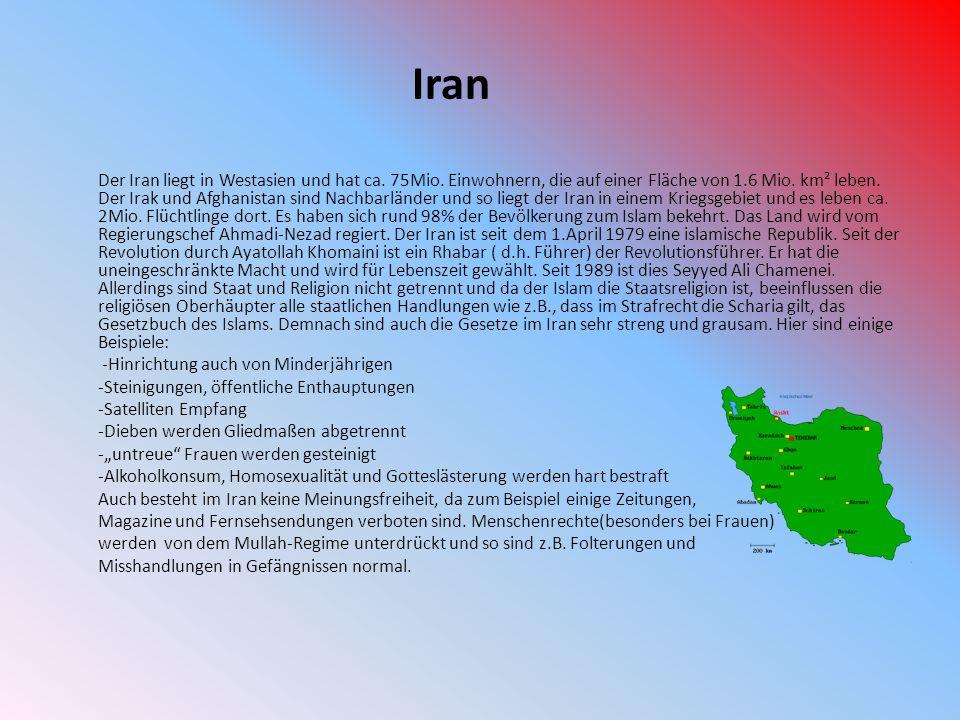 Iran -Hinrichtung auch von Minderjährigen