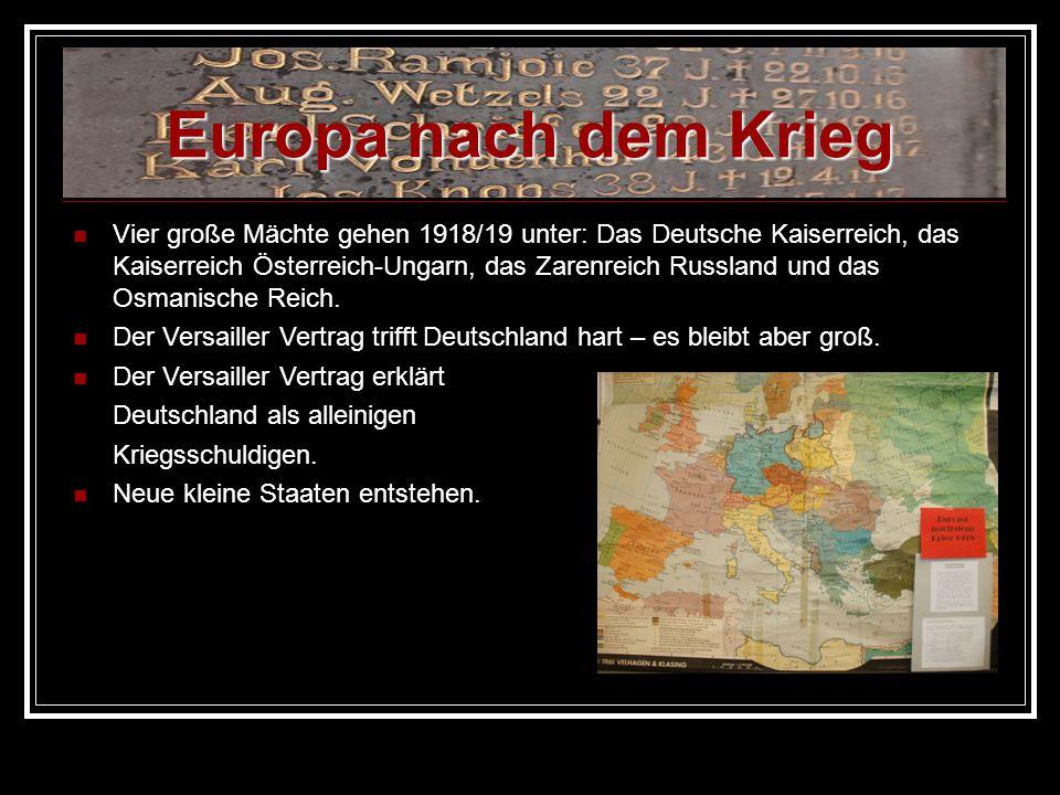 Europa nach dem Krieg