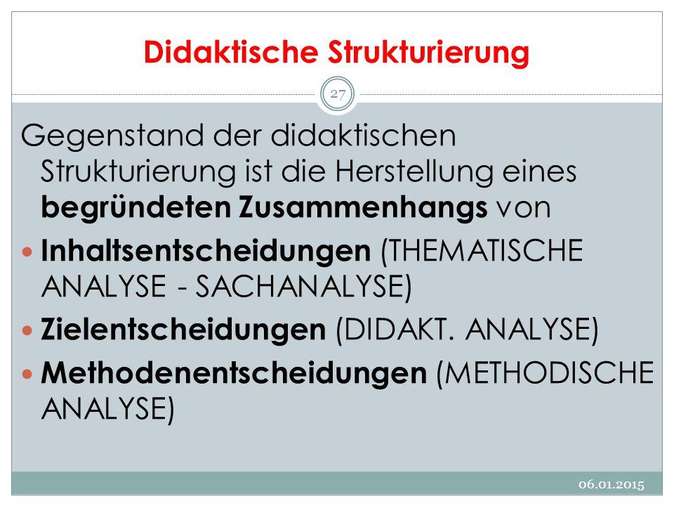 Didaktische Strukturierung