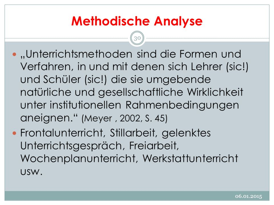 Methodische Analyse