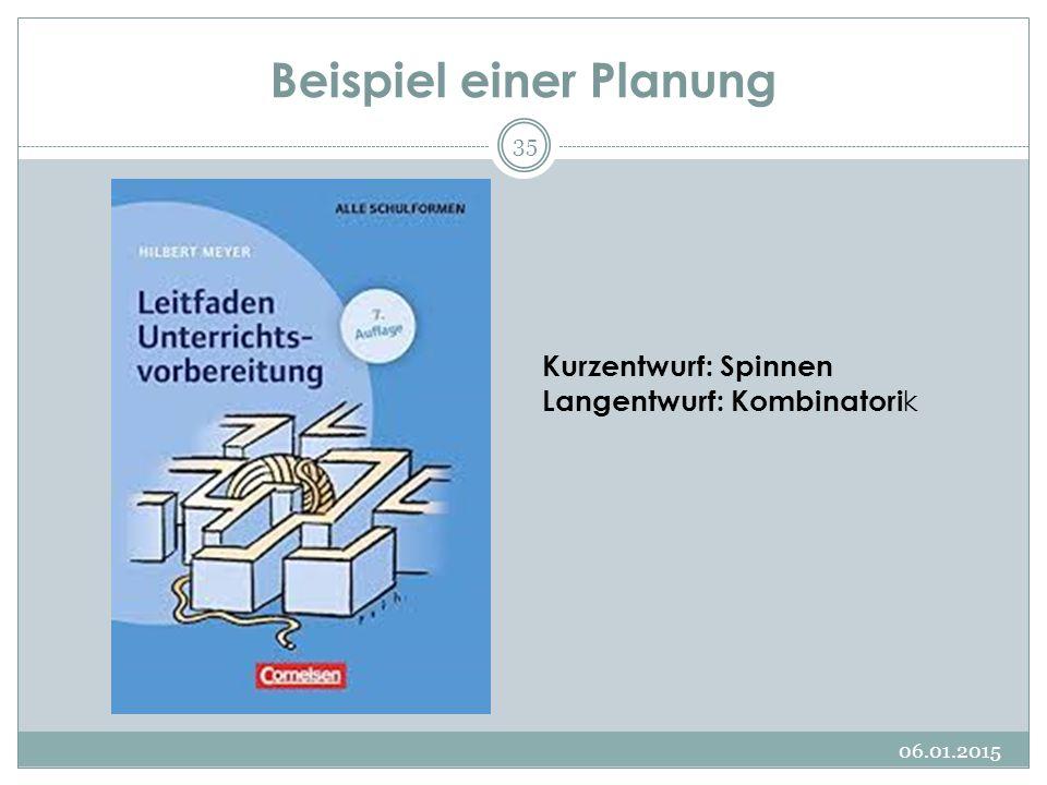 Beispiel einer Planung