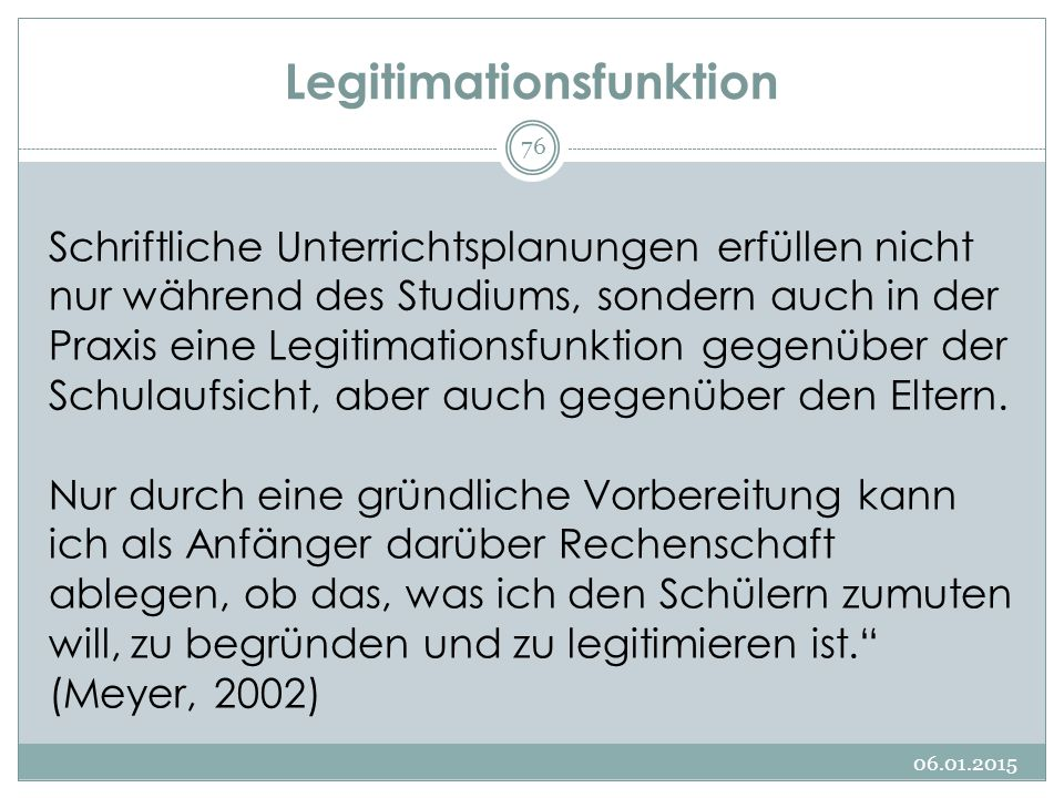 Legitimationsfunktion