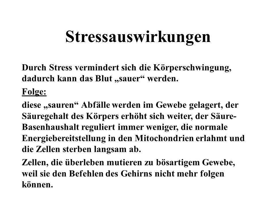 Stressauswirkungen